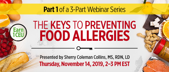 Webinar on Food Allergy Prevention