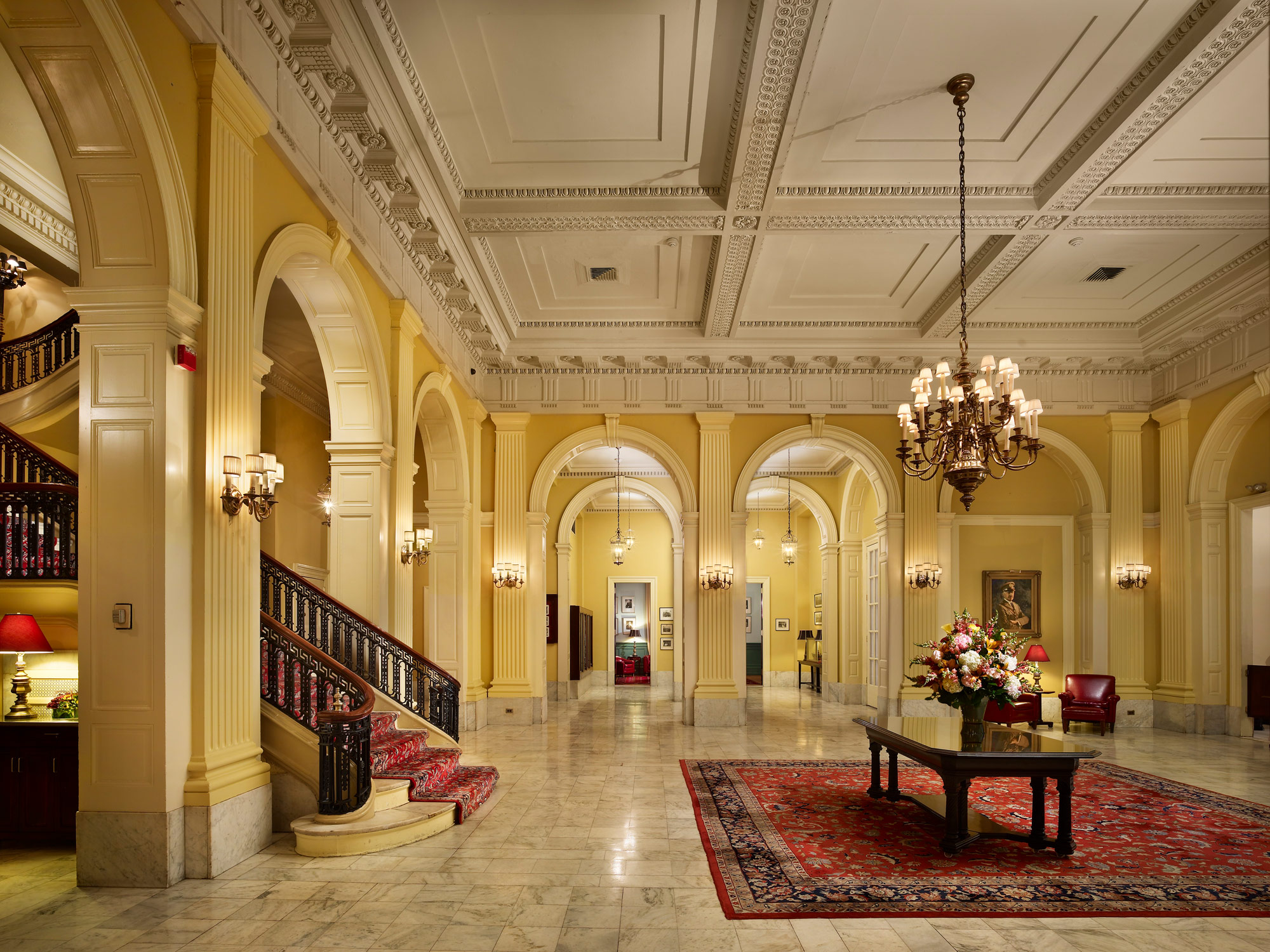 The Lobby at The Racquet Club of Philadelphia