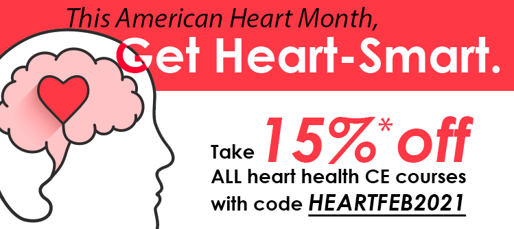 Get 15% off all heart health-related CE