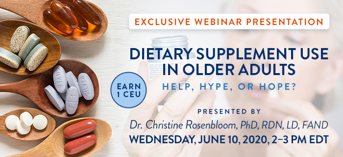 Dietary Supplements and Older Adults Webinar