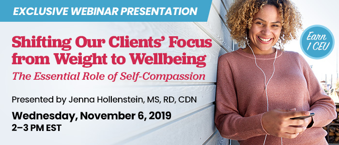 Shifting Our Clients' Focus from Weight to Wellbeing Webinar