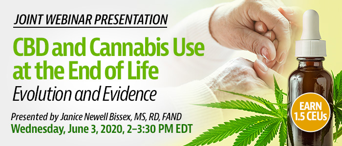 CBD and Cannabis Use at the End of Life webinar