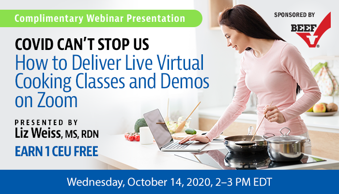 Complimentary Webinar on Virtual Cooking Classes and Demos on Zoom