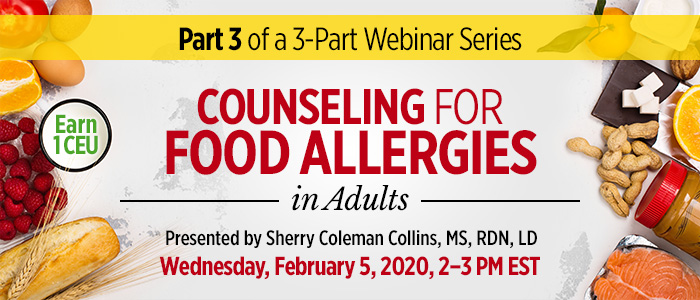 Webinar: Counseling for Food Allergies in Adults