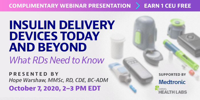 Complimentary Webinar on Insulin Delivery Devices