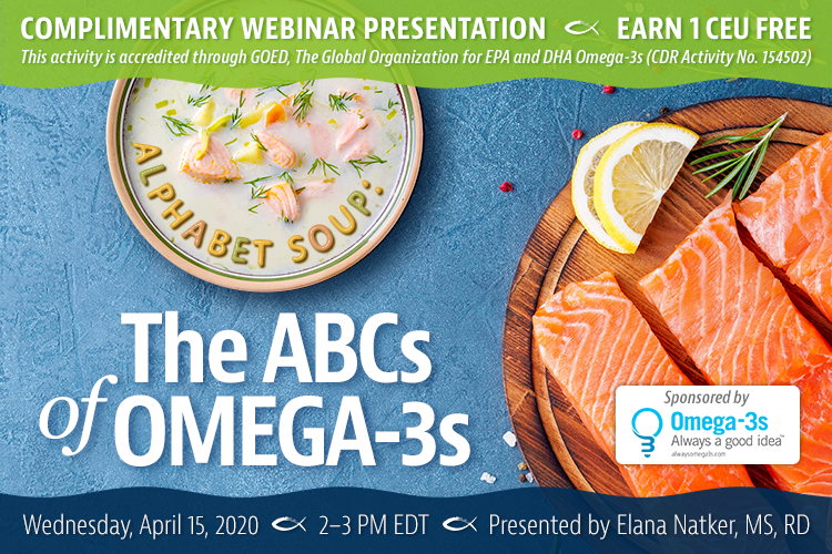 Upcoming webinar on omega-3s