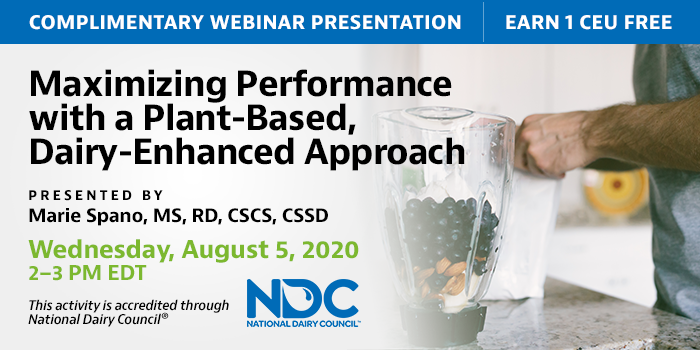 Complementary webinar from National Dairy Council