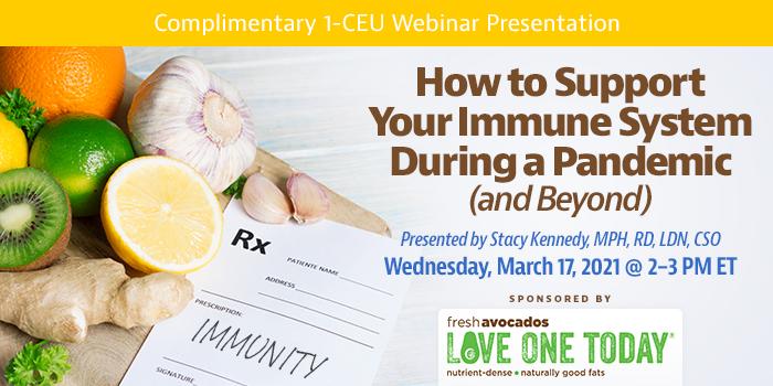 Complimentary webinar on immune health