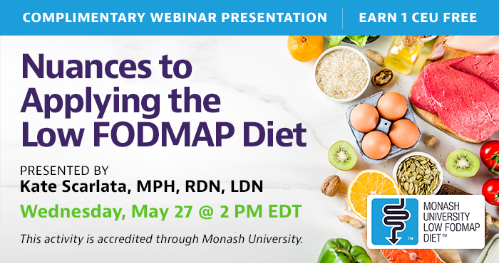 Low FODMAP Diet Webinar by Monash