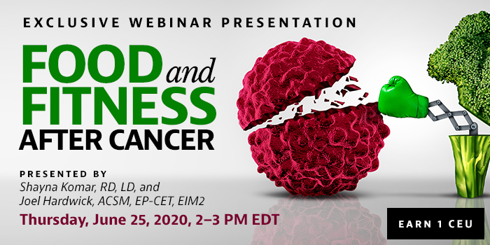 Webinar on Food and Fitness After Cancer