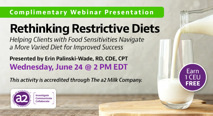 Complementary Webinar from a2 Milk