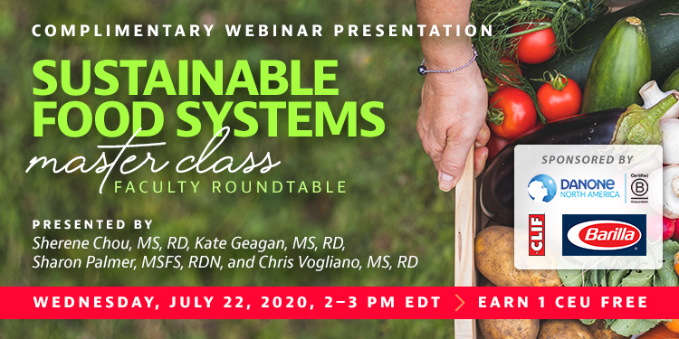 Webinar: Sustainable Food Systems Master Class - Faculty Roundtable