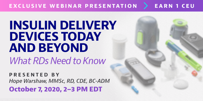 Webinar on smart insulin devices on October 7, 2020
