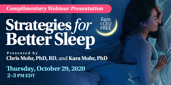 Webinar on Strategies for Better Sleep