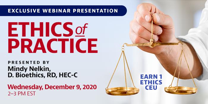 Webinar on ethics of practice, worth 1.0 ethics CEU