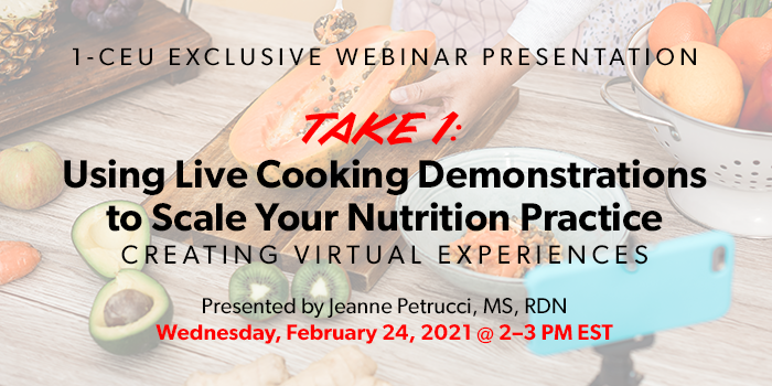 Webinar on Live Cooking Demos to Scale Your Business