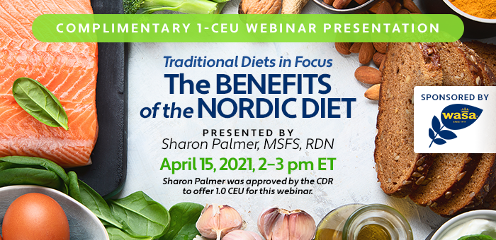 Complementary webinar on the Nordic Diet sponsored by Wasa