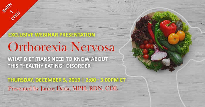 Webinar on orthorexia nervosa