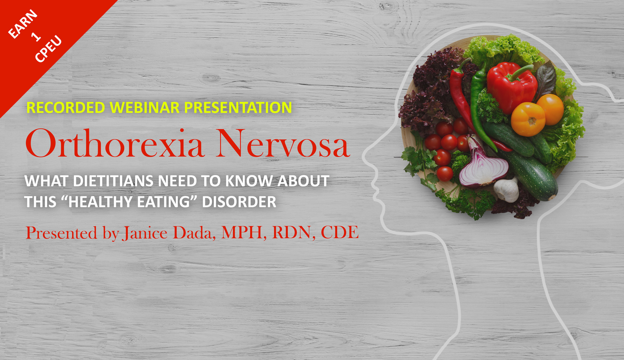 Recorded Webinar: Orthorexia Nervosa
