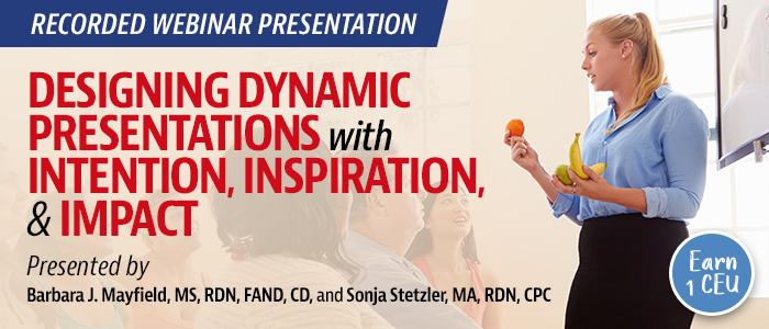 Recorded Webinar: Designing Dynamic Presentations with Intention, Inspiration, & Impact