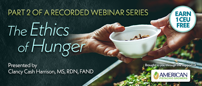 Part 2 Recorded Webinar: The Ethics of Hunger