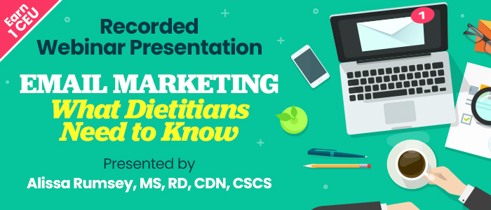 Recorded Webinar: Email Marketing for Dietitians