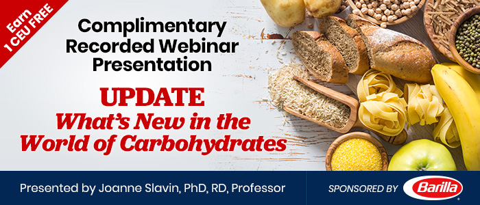 Recorded Webinar - What's New in the World of Carbs