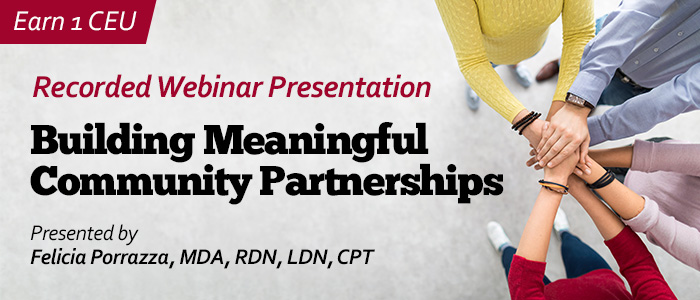 Recorded Webinar on Community Partnerships
