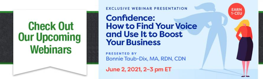 Upcoming Webinar with Bonnie Taub-Dix