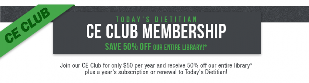Get 50% off the entire CE Learning Library when you become a CE Club  Member