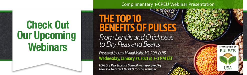 Top 10 Reasons to Eat Pulses Complimentary Webinar