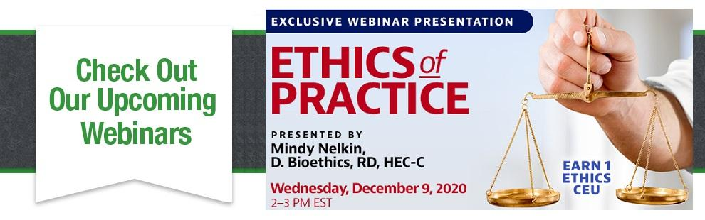 Get 1.0 ethics credit for this webinar!